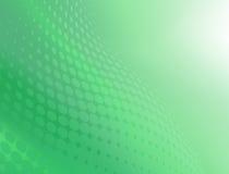 Fond vert frais abstrait de conception de remous de point Images libres de droits