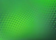 Fond vert frais abstrait de graphique de point Image libre de droits
