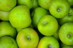 Fond vert frais d'Apple, texture Images stock