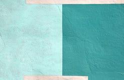 Fond vert multicolore coloré de peinture de mur Photographie stock