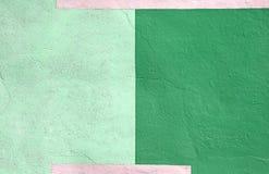 Fond vert multicolore coloré de peinture de mur Images libres de droits