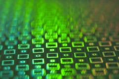 Fond vert peu commun créatif des rectangles rougeoyants image libre de droits