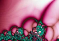 Fond vert rose d'abrégé sur fractale Photographie stock libre de droits