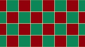 Fond vert rouge de Noël d'échiquier banque de vidéos