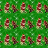 Fond vert sans couture de Noël Photos libres de droits