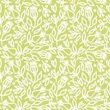 Fond vert sans joint avec des fleurs Photo libre de droits