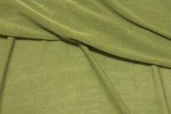 Fond vert texturisé de tissu Image libre de droits