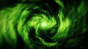 Fond vert V2 de mouvement de Loopable de tunnel de vortex d'énergie banque de vidéos