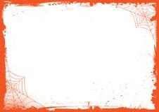 Fond vertical de bannière de Halloween avec la frontière grunge et le spid illustration de vecteur