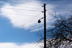Fond vertical de ligne électrique Photographie stock libre de droits