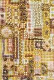 Fond vibrant de broderie de perle Photos libres de droits