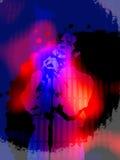 Fond vibrant de grunge de chanteur Photo libre de droits