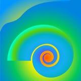Fond vibrant de spirale de coquille de contraste Photos stock