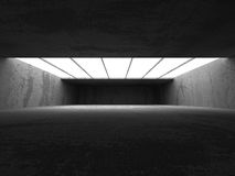 Fond vide abstrait d'intérieur de pièce de mur en béton Image stock