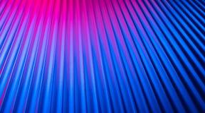 Fond vide vide de mur au néon avec la lumière rose bleue de couleur de nuit de gradient photos stock