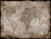 Fond-vieille carte Image libre de droits