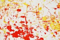 Fond vif blanc jaune-orange de peinture, fond d'abrégé sur peinture d'acrylique d'aquarelle images stock