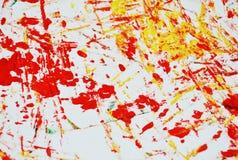 Fond vif blanc jaune-orange de peinture de tache, fond d'abrégé sur peinture d'acrylique d'aquarelle image libre de droits
