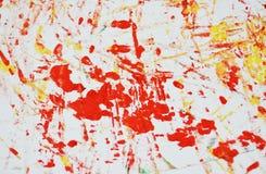 Fond vif blanc orange rouge jaune de peinture de tache, fond d'abrégé sur peinture d'acrylique d'aquarelle images libres de droits