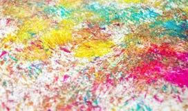 Fond vif brouillé phosphorescent pourpre de peinture de tache de pnk bleu, fond d'abrégé sur peinture d'acrylique d'aquarelle photographie stock