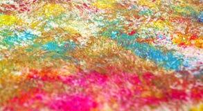 Fond vif brouillé phosphorescent rouge orange bleu de peinture de tache, fond d'abrégé sur peinture d'acrylique d'aquarelle photos stock