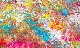 Fond vif brouillé phosphorescent vert bleu de peinture de tache de pourpre rose, fond d'abrégé sur peinture d'acrylique d'aquarel image stock