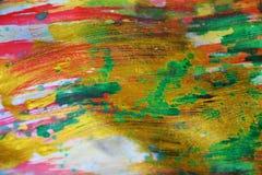 Fond vif d'aquarelle ombragée verte rouge foncé d'or, texture Photographie stock