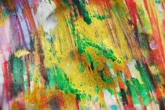 Fond vif de scintillement d'aquarelle ombragée rose de rouge d'or, texture Image libre de droits