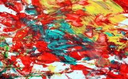 Fond vif phosphorescent blanc rouge orange bleu de peinture de tache, fond d'abrégé sur peinture d'acrylique d'aquarelle image libre de droits