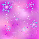 Fond violet avec des étoiles Photos libres de droits