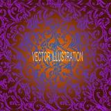 Fond violet avec le modèle ornemental Illustration de vecteur Photographie stock
