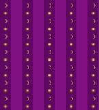 Fond violet avec le soleil et la lune Photos libres de droits