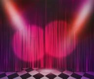 Fond violet de projecteur d'étape Photographie stock libre de droits