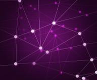 Fond violet de réseau Photographie stock libre de droits