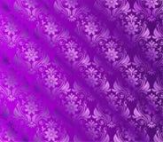 Fond violet en soie avec floral Photo libre de droits