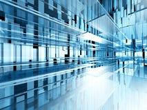 Fond virtuel abstrait de technologie de Cyber de l'espace Image stock
