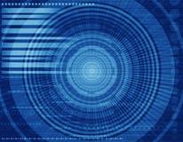 Fond virtuel de bleu de technologie Images libres de droits