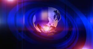 Fond virtuel de globe banque de vidéos
