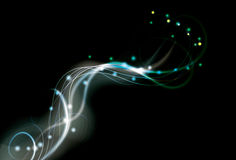 Fond wispy bleu et vert abstrait trouble Photo stock