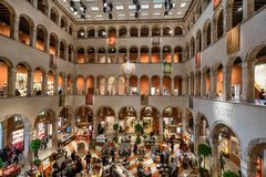 Fondaco dei Tedeschi shopping centre in Venice stock image