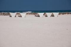 Fondale marino sulla riva di mare - mare bianco della sabbia Fotografia Stock