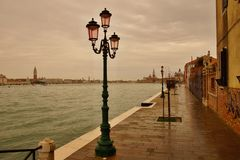 Fondamenta Croce on Giudecca Island Royalty Free Stock Photos