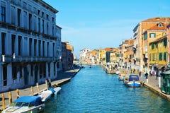 Fondamenta de Canaregio in Venice, Italy, Europe Stock Photos