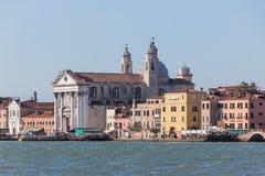Fondamenta delle Zattere ai Gesuati kościół w Wenecja, Włochy fotografia stock