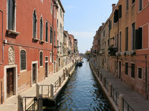 Narrow canal Fondamenta Fornace, Venice stock photography