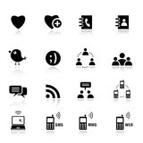 Fondamental - graphismes sociaux de medias Photo stock