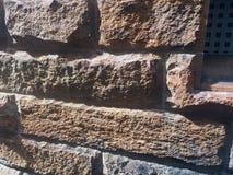 Fondamenti molto approssimativi della costruzione dell'arenaria, Sydney, Australia immagini stock