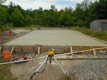 Fondamento del cemento Fotografia Stock