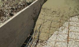 Fondamento del cemento Fotografie Stock
