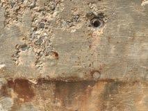 Fondamento del cemento con il rinforzo, arrugginito immagine stock libera da diritti